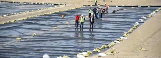 Ongoing rehabilitation works on the municipal landfill of Rustavi რუსთავის მუნიციპალურ ნაგავსაყრელზე მიმდინარე სამუშაოები