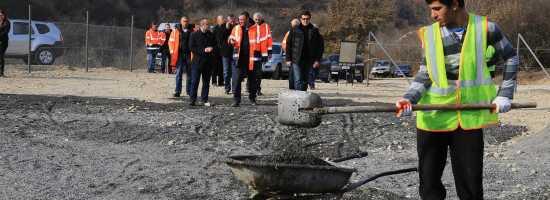 Ongoing rehabilitation works on the municipal landfill of Dusheti დუშეთის მუნიციპალურ ნაგავსაყრელზე მიმდინარე სამუშაოები