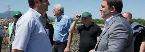 Exploitation works on Telavi municipal landfill მიმდინარე სამუშაოები თელავის მუნიციპალურ ნაგავსაყრელზე